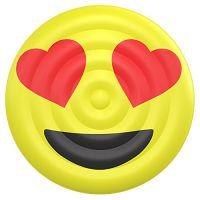 环保PVC充气笑脸浮排 emoji表情浮排 水上充气玩具