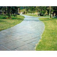 恒森彩色水泥压花路面压花地坪材料专业制造商
