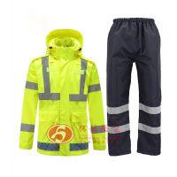荧光黄反光冲锋衣 雨衣批发 防寒工作服 智能工服