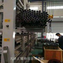 浙江管材货架 伸缩式管材架子 可调悬臂式货架示意图