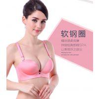 nb精油纯色小胸厚款少女内衣性感一片式无痕聚拢调整型内衣