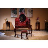 东阳和谐红木供应 红酸枝/巴里黄檀古典中式梳妆台