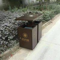 沧州志鹏供应环卫垃圾桶 果皮箱 钢木分类垃圾桶 环保小区双桶