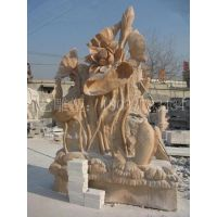 玻璃钢石雕连年有余雕塑大型鱼雕塑户外园林景观工艺品摆件
