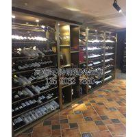苏州不锈钢酒柜,现代中式餐厅酒柜