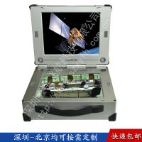 14寸上下双屏工业便携机机箱定制工控一体机外壳军工电脑