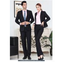 2017男女同款 仿毛单排两粒扣商务职业男装面试西装正装西服银行工作服