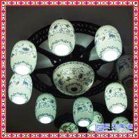 新品手绘青花陶瓷台灯装饰台灯灯具客厅会所灯具