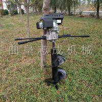 汽油电线杆挖坑机果树施肥打洞机农用树木种植钻孔机