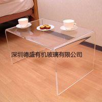 深圳德盛有机玻璃透明桌子 亚克力方形茶几 电脑桌