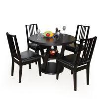 欧式餐桌椅组合 小户型 4人家用吃饭桌 餐厅圆形餐桌椅