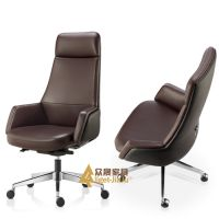 供应深圳众晟家具ZS-LY01-H皮制真皮CEO大班椅子