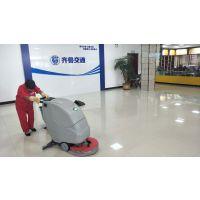 地面油污怎么去除,用哪个清洁设备可以?合美全自动洗地机不错