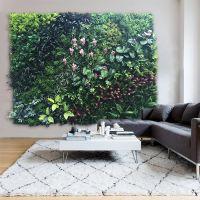 紫萱工艺品 室内装修美化环保仿真植物墙高端大气上档次 园林景观 厂家直销