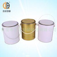 1加仑4L圆铁罐 铁桶马口铁 厂家直销 4L铁罐