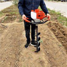 大马力果树种植挖坑机 单人操作挖坑机 汽油手提式钻孔机 乐民牌