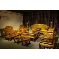 金丝楠木沙发十二件套 金丝楠木家具厂 中式家具 阴沉木价格
