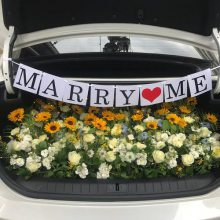 江北大道结婚花车装饰南宁市婚庆鲜花15296564995江北大道附近花店上门布置花车