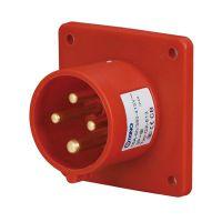 启星QX-813 4芯16A防护IP44工业暗装插头