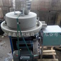 优质面粉石磨机批发 半自动面粉磨粉机图片 曲阜鼎达机械