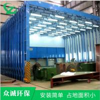 移动喷漆房 钢结构厂用喷漆房 超长移动伸缩房 电动喷漆房