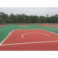 怀化体育设施篮球场才料厂家 龙山耐磨防滑篮球场地胶施工安装