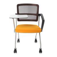 四脚写字板培训椅 众晟网布会议记录学习椅 办公会客接待椅子