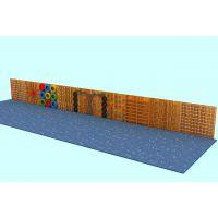 幼儿园户外体能组合玩具|大型碳化防腐积木|幼儿园长廊架