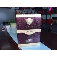 深圳红酒皮盒酒盒| 红酒包装盒厂家|通版可定制高档鳄鱼纹皮盒现货