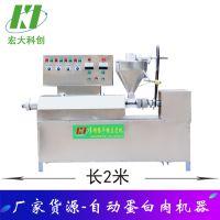 工厂货源供应蛋白肉机器 现场教学多功能豆皮机生产流程