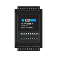 干接点/湿接点采集模块16路DI转RS485支持modbusRTU协议康耐德品牌