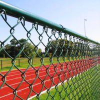 专业定做PVC浸塑篮球场铁丝网,体育场菱形网,经济实惠