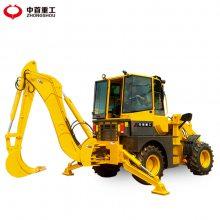 拖拉机两头忙前铲后挖两头忙农用小型铲车工程用挖掘装载机可定制中首重工