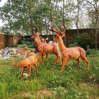 仿真树脂小鹿/公园玻璃钢雕塑动物梅花鹿摆件