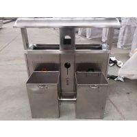沧州志鹏供应户外不锈钢方形环保回收箱 分类环保果皮箱社区环卫垃圾桶