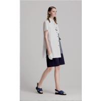 希色品牌春夏桑蚕丝纯色连衣裙 上衣货源供应 简约风格折扣女装品牌尾货批发