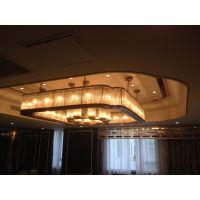北京厂家供应餐厅新款中式方形玻璃吊灯