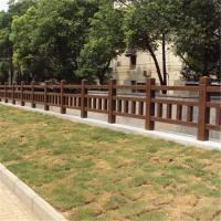 水泥仿木护栏围栏隔离栏,交通安全设施水泥仿木仿石优质护栏定制批发