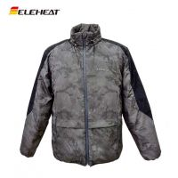 ELEHEAT中老年棉衣男士运动外套智能发热服大码野营迷彩棉袄服装冬季