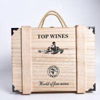 2017新款六支包角红酒盒、 礼品木箱红酒包装盒、仿古实木通用红酒盒