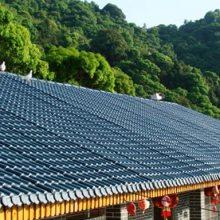 福建福州屋顶仿古别墅瓦,防腐耐候合成树脂瓦,1050型塑料瓦