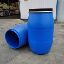 200L大口包箍皮革化工塑料桶 山东200公斤HDPE染料桶生产厂家