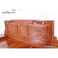 胶南榆木床、大唐古典家具(图)、榆木床 全实木高箱床