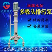 沐阳供应 PWDL多吸头排污泵 液下长轴排污泵 立式放淤泵 自动搅匀液下泵
