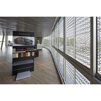 奥迪4S店展厅外立面梯形穿孔铝板加工制定厂家