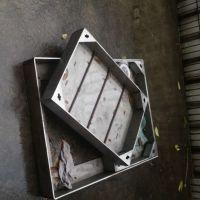 耀恒 不锈钢隐形井盖 下沉排水盖板 500*500 城市道路隐形防盗井盖定制