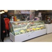 丹阳双曲面蛋糕展示柜45℃M-P1580FL-4揭盖式靠墙沙拉台