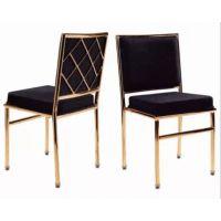 铝合金餐椅酒店餐厅椅子户外婚礼婚庆椅金属竹节椅网背竹节椅