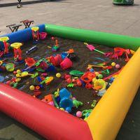 广场摆摊沙滩池玩沙玩具 决明子儿童套装套餐 充气沙池决明子池包邮