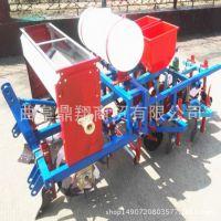 厂家销售四轮拖拉机带动的膜上花生播种机双行滴灌花生播种机